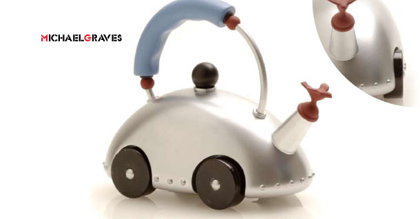 One of Michael Graves' zany kettle designs