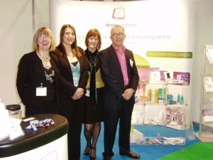 Some of The Design Cognition team on the EasyFairs Packaging Innovations stand