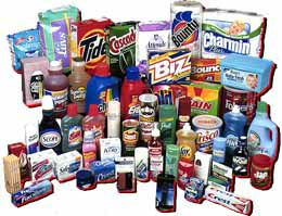 A range of P&G FMCG products
