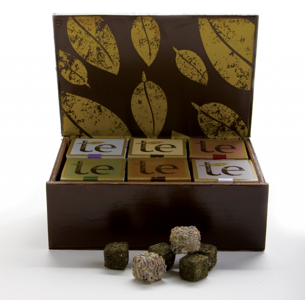 Elo's lovely 'te' packaging for an upmarket tea range