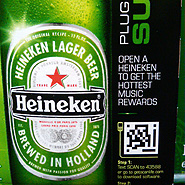 2D barcode on Heineken