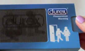Interactive Durex Condom Pack