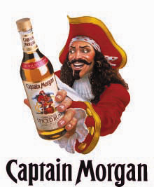 Captain Morgan wielding his packaging assets