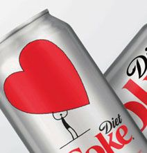 Diet Coke Love Can