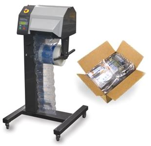 Sealed air transit packaging & inflating machine