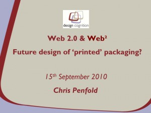 Web2.0 & Web² - Furture design of printed packaging?  Presentation